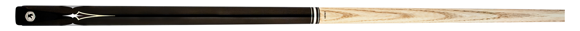 SK0129: Falcon Snookercue 3/4 model FSCR-6 black/inlay #1