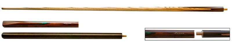 SK0220: Snooker keu Lexor Pro1 3/4 brown w/gr splice w/ext #1