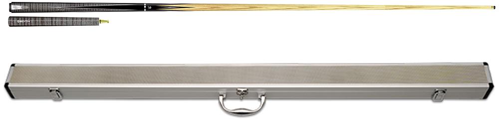 SK0238-SK: Edith EZ-3 Grey M. with prongs 3/4 + ext. Met luxe snooker koffer aluminium 3/4  #1