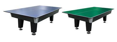 Tafeltennis top voor pooltafels wedstrijdformaat blauw of groen