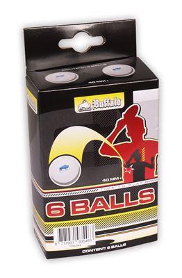 Tafeltennis ballen Buffalo 6balls 1 ster