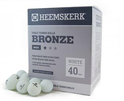 Tafeltennis ballen Heemskerk Bronze 1 ster 120stuks wit