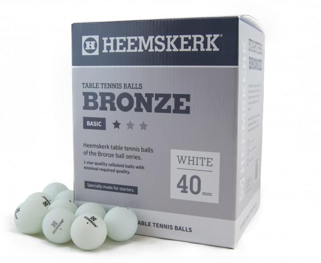 TC0739-1: Tafeltennis ballen Heemskerk Bronze 1 ster 120stuks wit  #1