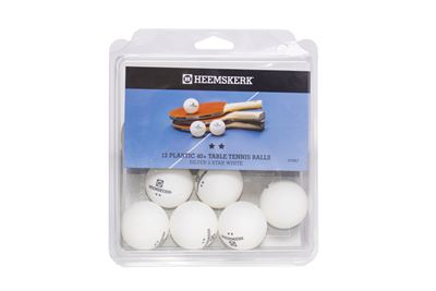 Tafeltennis ballen Heemskerk Zilver 2 ster wit, per 12