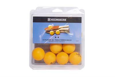 Tafeltennis ballen Heemskerk Zilver 2 ster oranje, per 12