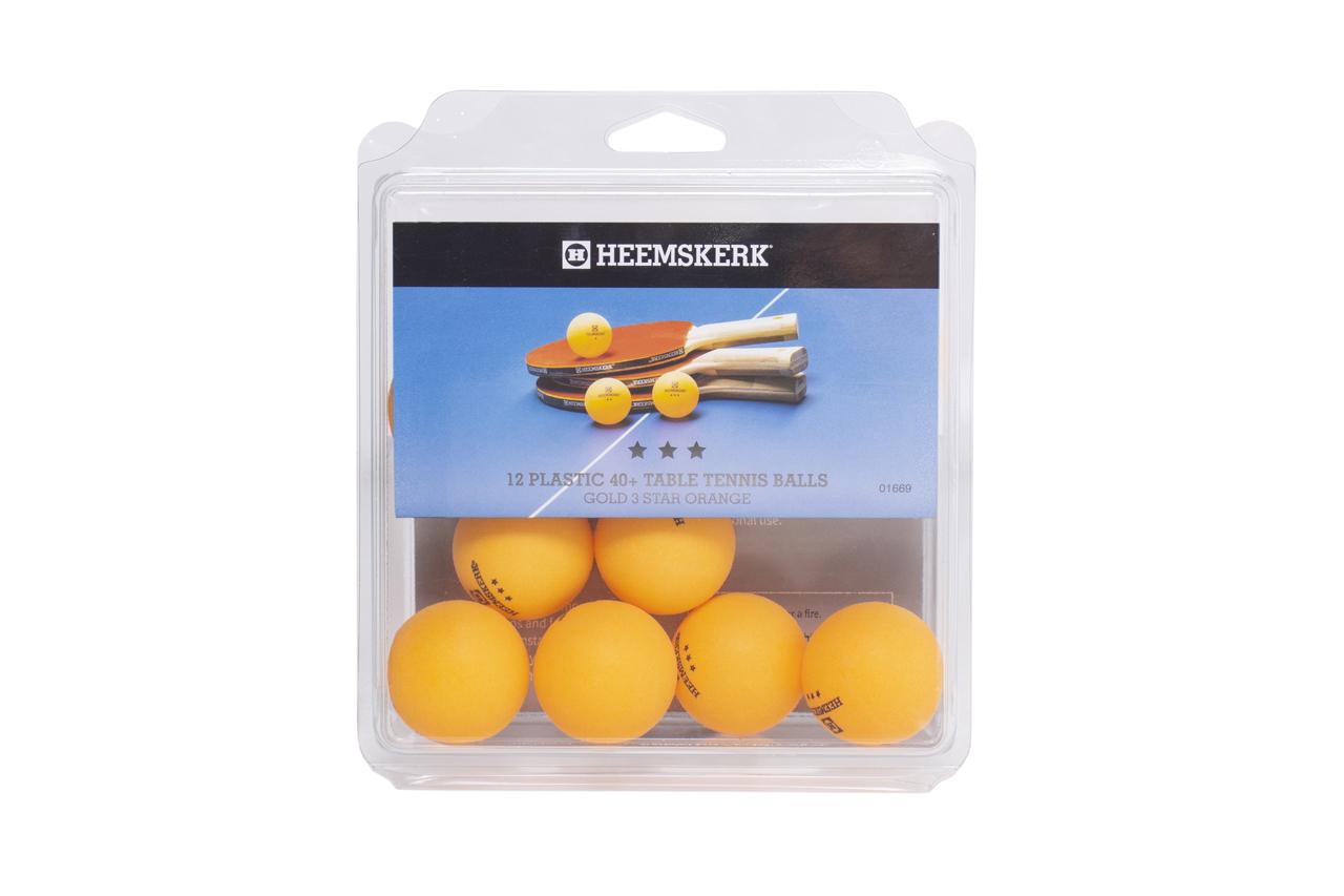 TC0739-15: Tafeltennis ballen Heemskerk Gold 3 ster orange, per 12 #1