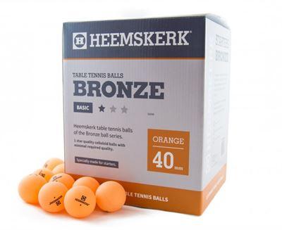 Tafeltennis ballen Heemskerk Bronze 1 ster 120stuks oranje