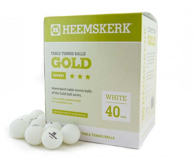 TC0739-3: Tafeltennis ballen Heemskerk Gold 3 ster 120 stuks wit #1