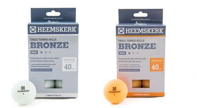 Tafeltennis ballen Heemskerk Bronze 1 ster 6 stuks wit/oranje