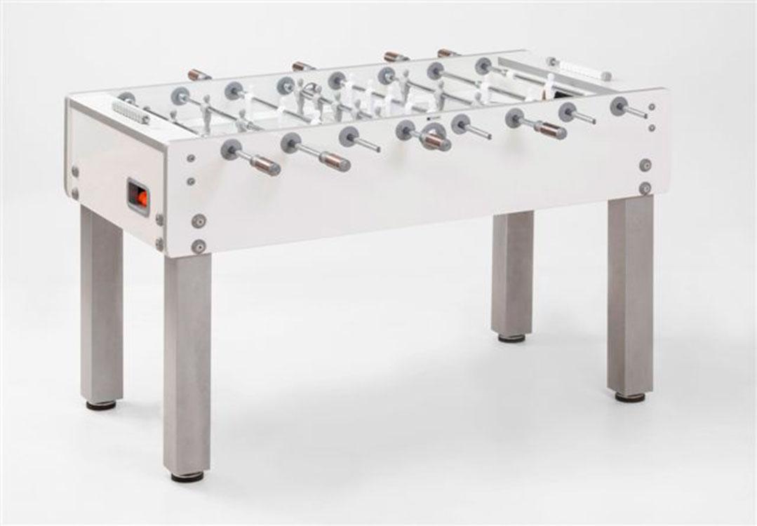 VC0224-PW: Garlando voetbaltafel G-500 PURE WHITE Gratis levering & Montage! #1
