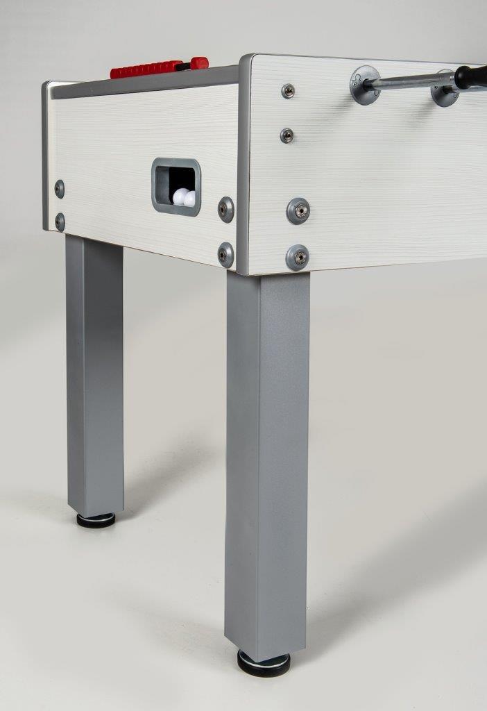 VC0224-WP: Garlando voetbaltafel G-500 WEATHERPROOF WHITE met solid rods #4