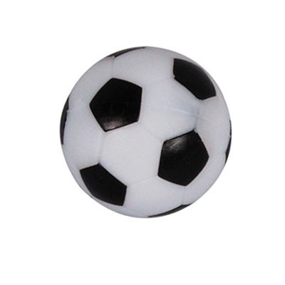tafelvoetbal bal wit/zwart m/profiel 36mm