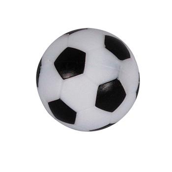 VC0501: tafelvoetbal bal wit/zwart m/profiel 36mm #1