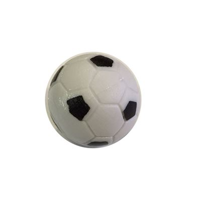 tafelvoetbal bal wit/zwart profiel 31,5mm 17gram