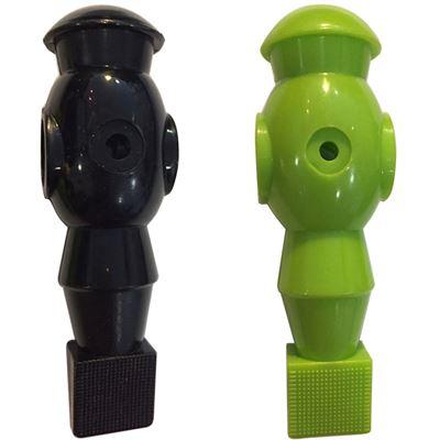 voetbal pop zwart en groen 16mm