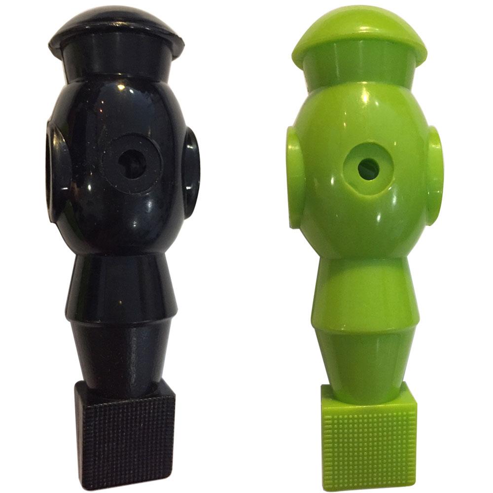 VC0581: voetbal pop zwart en groen 16mm #1