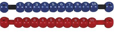 score teller schuif rood of blauw