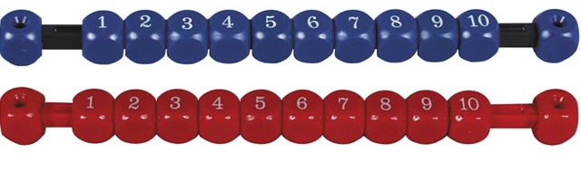 VC0650: score teller schuif rood of blauw #1